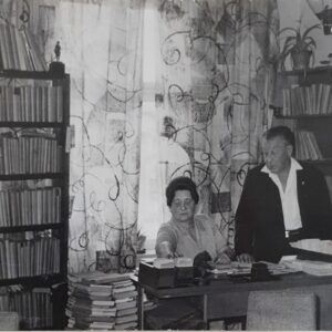 zdjęcia przedstawiaja historię ustrońskiej biblioteki